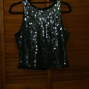 Sparkle and shine Laurence Kazar Sequined top